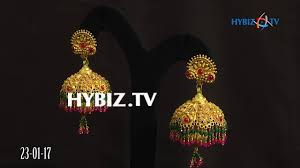 malabar earrings gold jhumkas with ruby emerald drops malabar gold and diamonds