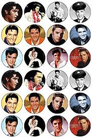 elvis cake topper 24 elvis edible wafer paper cup cake toppers co uk