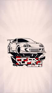 jdm sticker wallpaper supra toyota wallpaper my art hd 1080x1920 pinterest
