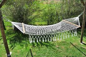 nylon macramé hammock
