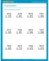 Math Worksheets For 5th Grade Numbers Free Printable Multiplication Worksheet For 5th