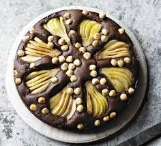 pear hazelnut u0026 chocolate cake recipe bbc good food