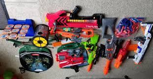 nerf car nerf guns buzz bee guns u0026 majik shooting games lot common