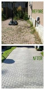 How To Make Patio How To Make A Weed Free Brick Driveway That Stays That Way