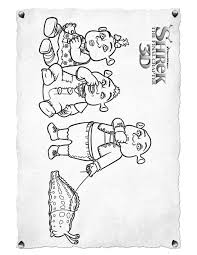shrek ogre babies coloring pages hellokids
