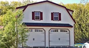 100 gambrel roof garages 2 car garages built on site 2 car