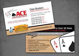 ace construction u2013 business card design les lehman website design