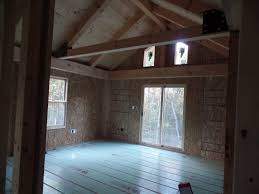 wood home interiors post and beam wood home under construction part 10