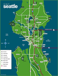 Seattle Tacoma Airport Map Seattle Maps Washington U S Maps Of Seattle