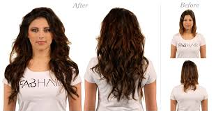 clip in hair extensions before and after fabhair premium hair extension brand in new york