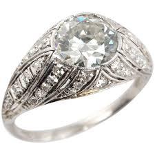 best diamond store 1 29 carat diamond and platinum art deco engagement ring