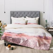 iveta abolina pastel mountains iii duvet cover deny designs