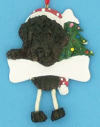 personalized labradoodle ornament brown black