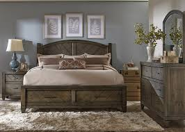 Pine Bed Set Country Bedroom Set With Solid Spruce Pine Wood And Smokey Pewter