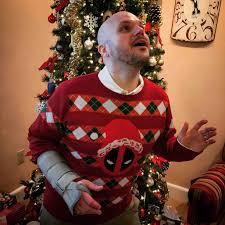 Ugly Christmas Ornament My Deadpool Ugly Christmas Sweater Comicbooks