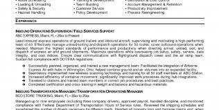 Transportation Resume Examples by Transportation Resume Objective Transportation Resume Template