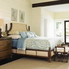 Lexington Bedroom Furniture Tommy Bahama Island Fusion Mandarin Upholstered Panel Bed Hayneedle