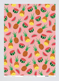 pineapple wrapping paper wrap wrapping paper pineapple watermelons