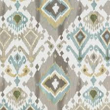 Drapery And Upholstery Fabric Aqua Blue Brown Ikat Upholstery Fabric Custom Blue Gold Ikat