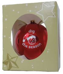 dig the season volleyball holiday glass tree ornaments sport