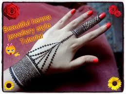 easy diy beautiful henna mehndi jewellery style tutorial for eid