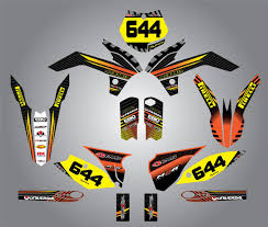 ktm 250 sx 2013 full custom graphic kit factory style ebay