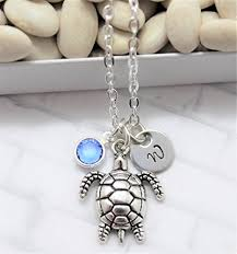 girls personalized necklace images Sea turtle necklace turtle jewelry turtle gift for jpg