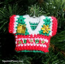 free pattern sweater ornament by squirrel picnic