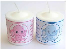 candle baby shower favors 14 pink elephant or blue elephant baby shower favors votive candle
