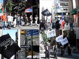Black Jihad Flag Jihadist Flags Fly Over Nyc In Muslim Day Parade