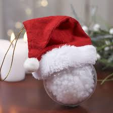 small fleece santa hat ornament doll hats doll supplies