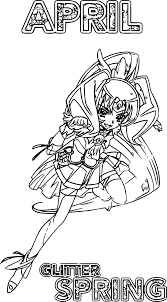 april glitter force spring coloring page wecoloringpage