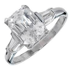 natural rings images Natural white sapphire diamond platinum engagement ring for sale jpg