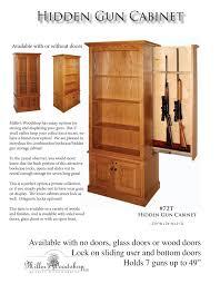 glass for gun cabinet door miller u0027s woodshop 72t hidden gun cabinet