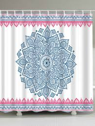 Extra Long Shower Curtain Bohemian Floral Extra Long Shower Curtain Light Blue W Inch L