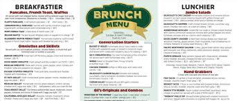 menu for brunch gilhooley s grande saloon brunch menu