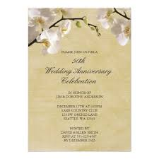 50th wedding invitations 50th wedding anniversary vintage white orchid invitation