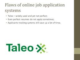 Taleo Resume Job Applications Prepared By Jelena Rimovica Maria Draganova