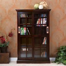 Cd Storage Cabinet With Doors by Sliding Door Media Cabinet Espresso