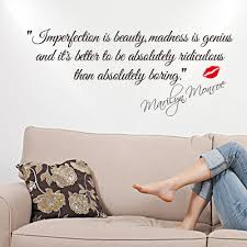impersonation is beauty quotes marilyn monroe art wall stickers