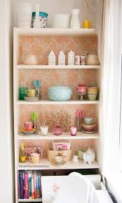 Old Ikea Bookshelves by Vintage Wallpaper On Dining Room Dresser About The House D U0026co