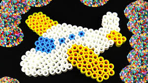 planes fused beads surprise toy arts and crafts perler beads