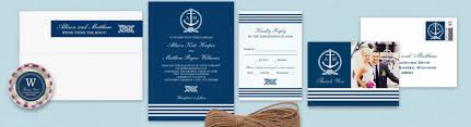 nautical wedding invitations tropical papers