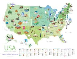 United States On A Map by Download This Free Poster Of Famous U S Landmarks Shareamerica