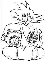 dbz goku coloring pages coloringstar