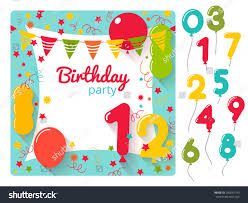 many stock birthday party invitation card vector creation vector birthday party invitation card design stock vector