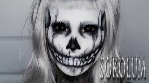 skeleton halloween make up punk rock princess skull makeup tutorial youtube