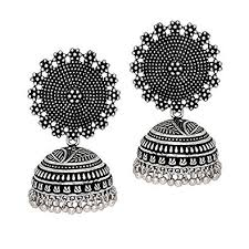 earrings for women buy i jewels oxidized silver plated jhumki jhumkas earrings for