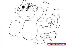 Monkey Paper Plate Craft - crafts actvities and worksheets for preschool toddler and kindergarten