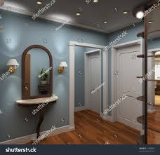 classic design interior vestibule 3d render stock illustration